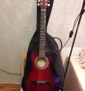 Гитара аккустическая новая