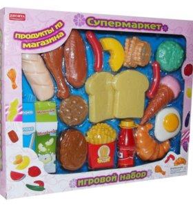 Набор из 23 продуктов для игры в супермаркет