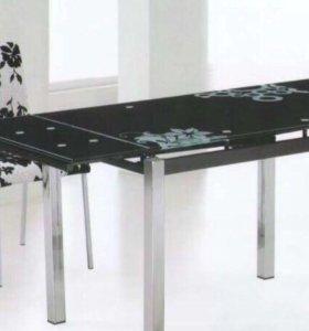Стол обеденный раскладной+ 4 стула (ЭКО-кожа)