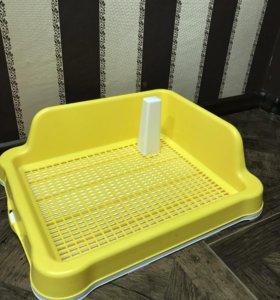 Туалет для собак(со столбиком)