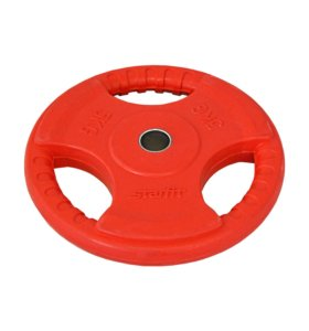 Диск обрезиненный 5 кг BB-201, d26 мм, красный