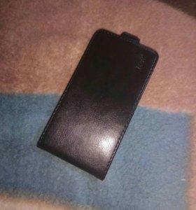 Кожаный чехол для Alcatel One Touch Idol 3 4.7 дюй