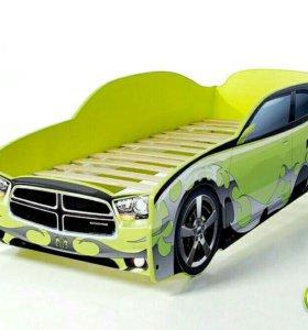 Детская кровать-машина, кроватка-машинка