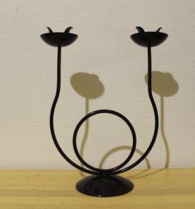 Подсвечник на 2 свечи (в20 см)