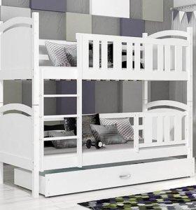 Новая детская двухъярусная кровать