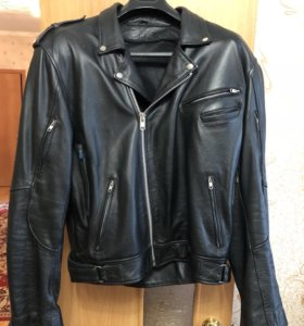 Кожаная мото куртка