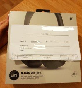 Наушники u-JAYS Wireless black НОВЫЕ!