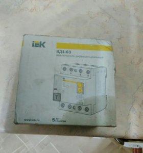 Выключатель дифференциальный типа ВД1-63
