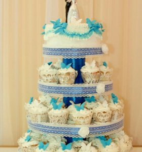 Подставка для свадебного торта и капкейков