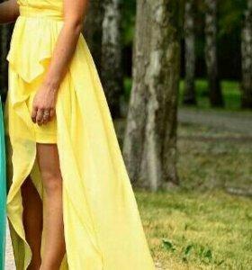 Вечернее платье-маллет