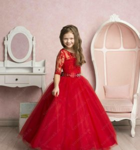 Новое бальное платье для девочки на выпускной