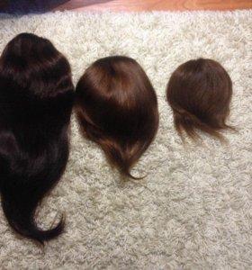 Шиньоны из натуральных волос