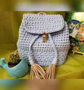 Трикотажные корзины, сумки, рюкзаки и пр.
