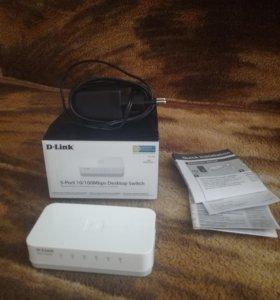 5-Port 10/100Mbps Desktop Switch, внешний дисковод
