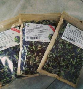 Анчан, синий чай из цветов клитории