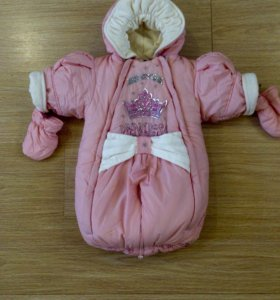 Комбинезон- трансформер Pilguni , р.68 см, розовый