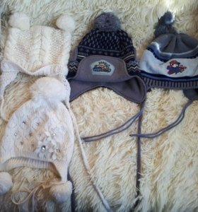 Продаются шапки для девочек и мальчиков от 1 до 3