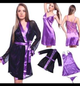 Комплект халатик+сорочка