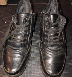 Ботинки б/у, кожа, 44 размер