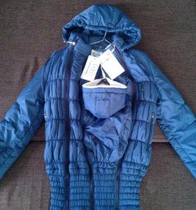 Куртка для беременных с вставкой для ребенка
