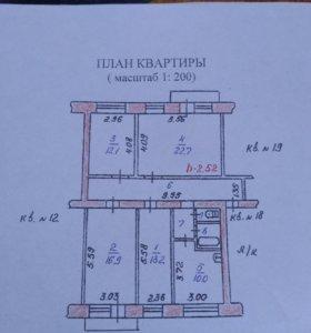 Квартира, 4 комнаты, 96.2 м²