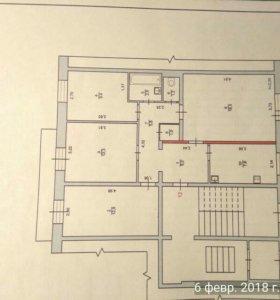 Квартира, 4 комнаты, 76.5 м²
