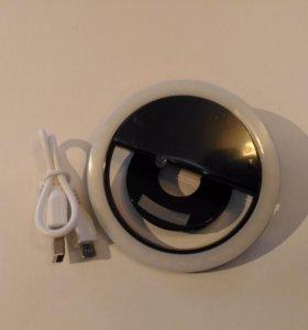 Светодиодное селфи кольцо/Selfie Ring Light (USB)