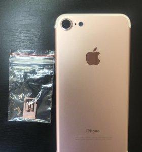 Новая Задняя крышка для iPhone 7 розовое золото