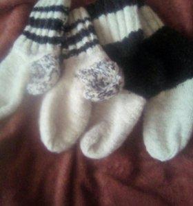 Шерстяные носки из натуральной овчины