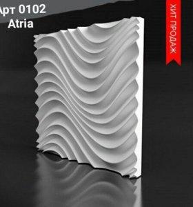 Гипсовые 3D панели для интерьеров
