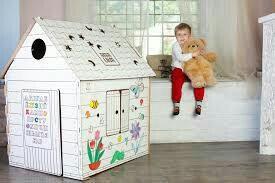 Детский домик - расскраска из картона