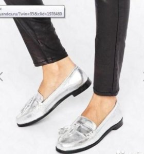 Кожаные туфли / лоферы, размер 38