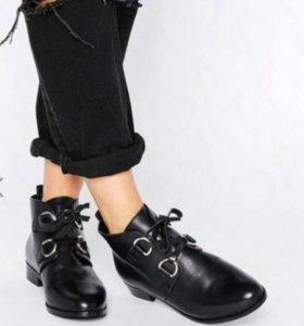 Кожаные ботинки размер 36