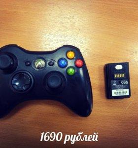 Геймпад xbox360 беспроводной оригинал с аккумом.