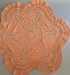 Вязанная салфетка