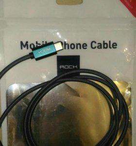 шнур кабель usb для зарядки(разъем type C)