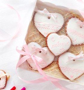 Пряники на День влюблённых