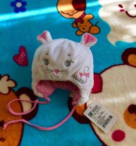 демисезонная шапка новая размер 44 (осень-весна)