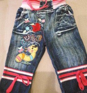Новые джинсики р.74см(7-11мес)