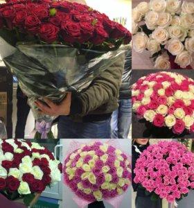Цветы на день влюблённых розы