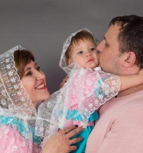 Фамили лук - платки белые в церковь на крещение