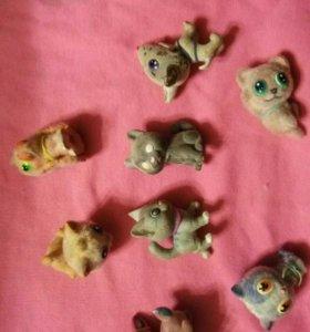 Миниатюрные игрушки (котики,собачки,олень)срочно