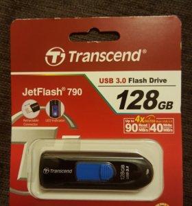 Флешка Transcend 128 Gb USB 3.0