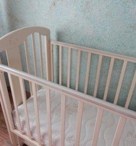 Детская кроватка Можга Агата С 719 и матрас Plitex