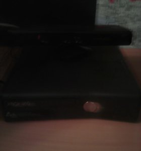 Xbox 360 с играми и kinect