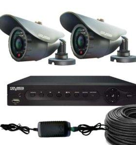HD Комплект видеонаблюдения для улицы на 2 камеры