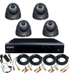 HD Комплект видеонаблюдения 4 камеры для магазина