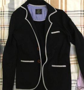 Пиджак мужской чёрный трикотажный