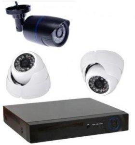 HD Комплект видеонаблюдения 2 внутренних 1 уличная