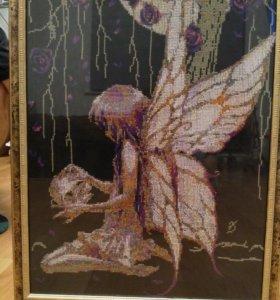 Картина вышитая крестом Ангел